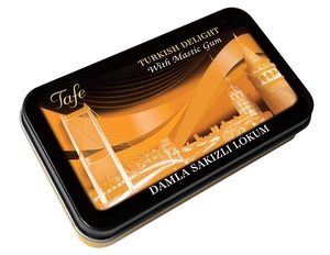 Tafe Turkish Delight with Natural Mastic Gum Tin Box 80 gr - 496 code