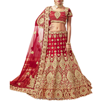 Net Fabric Red Color Bridal Lehenga Choli