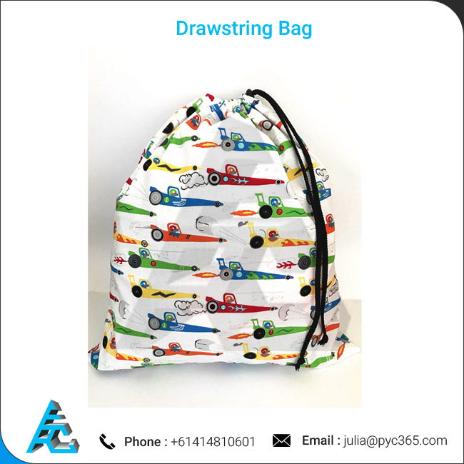 Cotton Poplin Material Made Drawstring Bag Sale