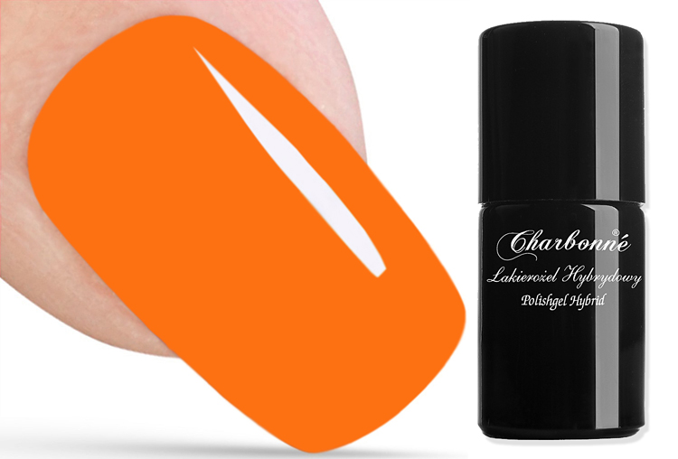 Polishgel Hybrid CHARBONNE color 42 intensive orange