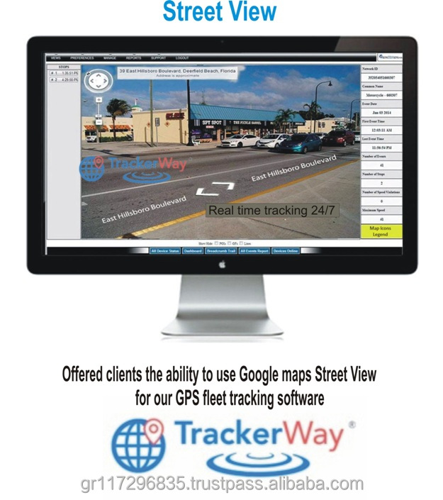 TrackerWay cell phone gps tracking software with Multiple Reports - real time for all gps tracker device