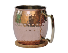New arrival hammered gold handmade moscow mule copper mug in india