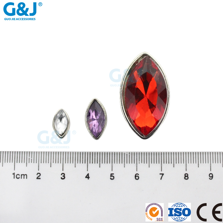 Guojie brand wholesale high quality boutique small horse eye shape customized acrylic stone
