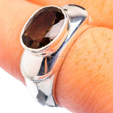 Give You A Positive Life !! 925 Sterling Silver Smoky Quartz Ring
