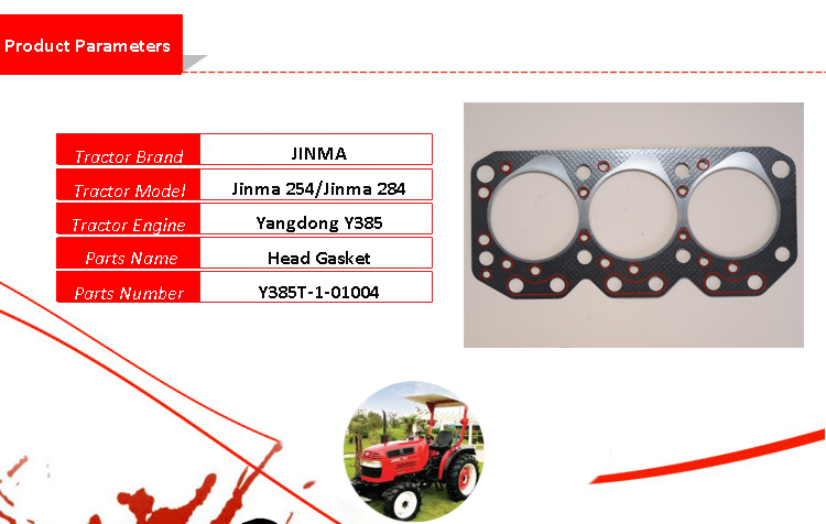 JINMA YANGDONG 25HP ENGINE HEAD GASKET /& ENGINE GASKETS FOTON Y385T