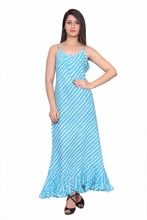 Long Maxi Fish Design Beach Wear Strap Maxi
