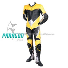 Bikers White & Yellow Motor Bike Leather Suit Jacket,Pants,Gloves & Boots