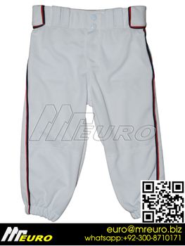 Custom Piping Baseball Pant,Fit Elastic Bottom