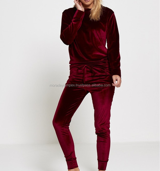 Maroon Girls Track Suit Customized Track Suit Girls Sexy Track Suit