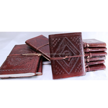 Handmade Leather Travel notebook with lock Journal Diary Sketchbook Notebook Handmade Paper Leather