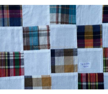 madras patchwork check cotton