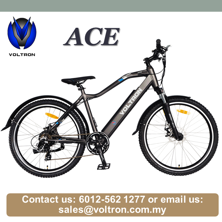 Voltron Sales Electric Bicycle Ace Mountain Bike 26'' inch 36V Lithium Ion Battery Made In Malaysia