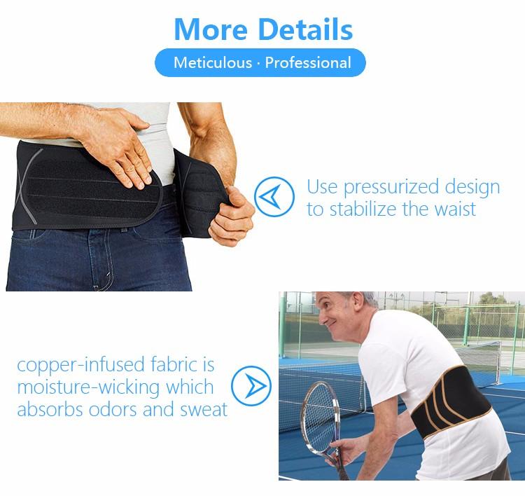 Wholesale belt with high quality lumbar belt waist support lower back brace for back spine pain, adjustable slimming belt