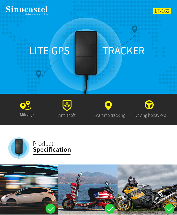 Hot sales 3G Motorcycle GPS Tracker Vehicle hard wire GPS Tracker