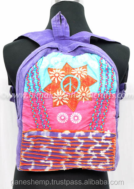 Stone wash Cotton Backpack RCBB 311 A