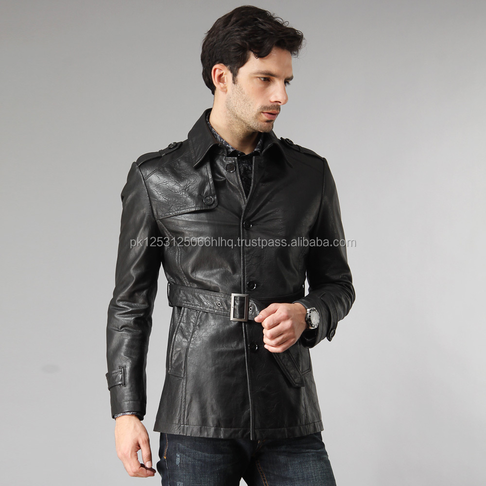 Gents Coat / Dress gents leather coat