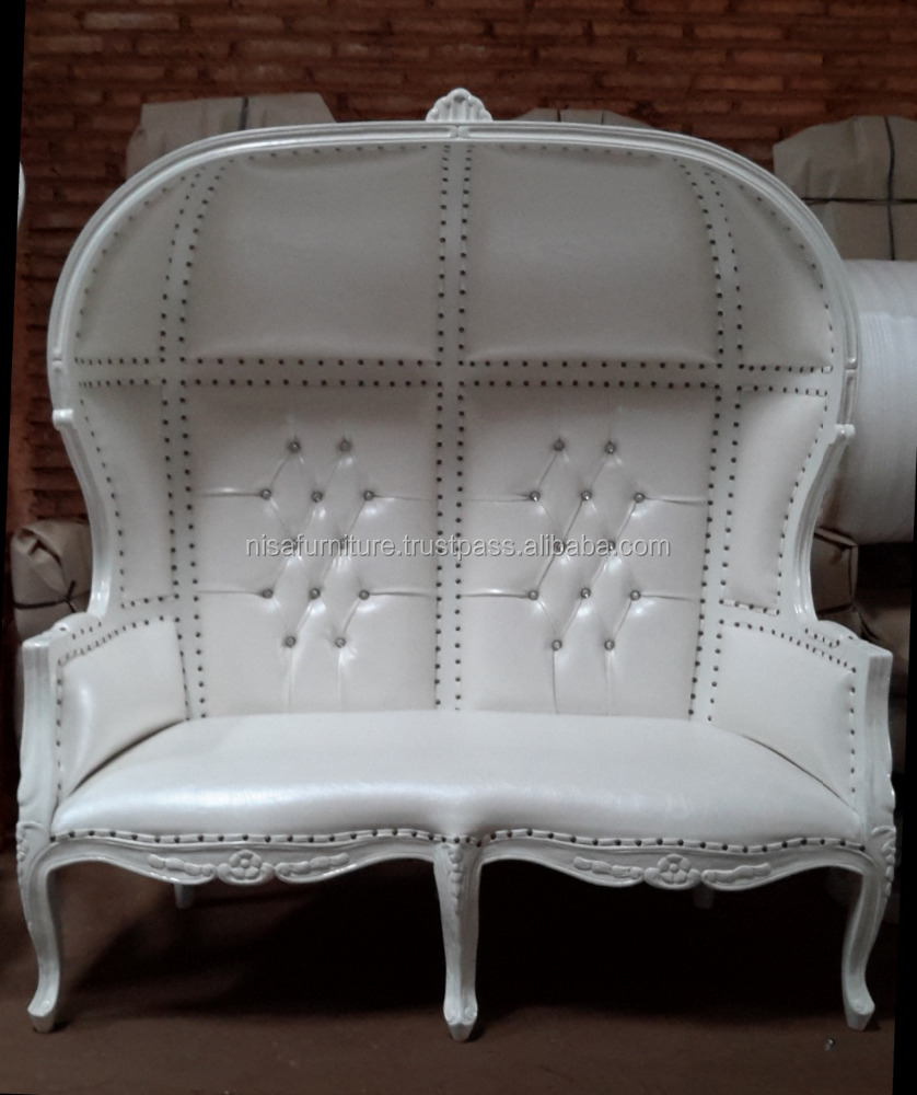 French Wedding Loveseat Throne Canopy Chair White on White wholesale throne chair