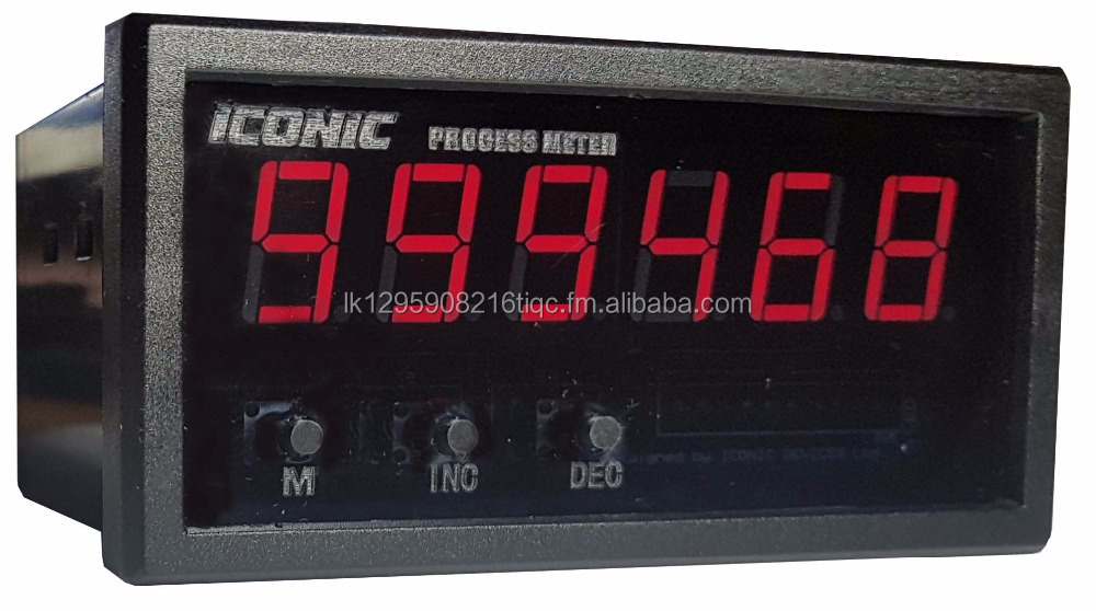 6 digit Process meter indicator 0-10V 4-20mA Thermocouple RTD DIN PANEL MOUNT