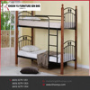 High Quality metal Double decker bunk bed wooden double furniture from Malaysia