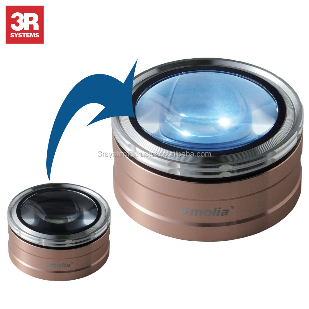 Perfect focus and dimmable LED lights zoom magnifying glass use with photo album , USB rechargeable battery