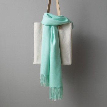 [MAISUN] Solid color warm winter scarf pashmina