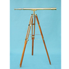 BRASS NAUTICAL TELESCOPE WITH WOODEN STAND