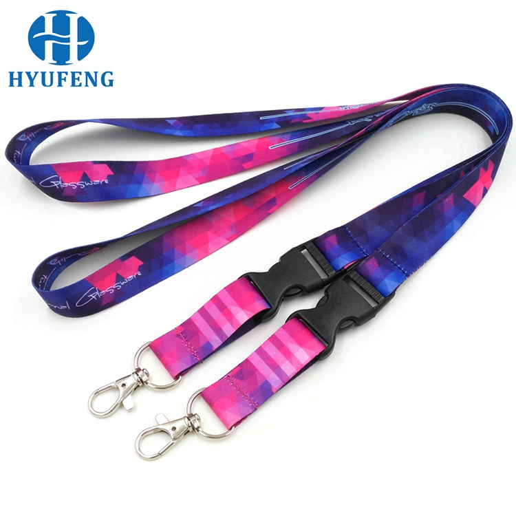 Fast delivery imprint neck fashional nylon lanyard