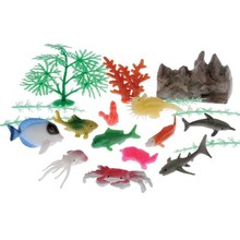 OCEAN ANIMAL & PLANT SET/20-PC #4245
