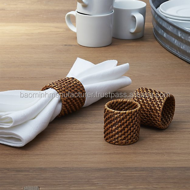 Best quality Honey rattan napkin ring