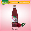 Hot Selling Rose Syrup Drink Mix Available at Bulk Price