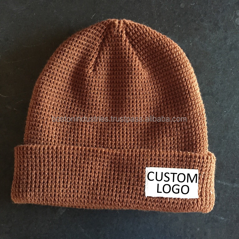 Knitted Beanie Woven Label Beanies at Boston Industries