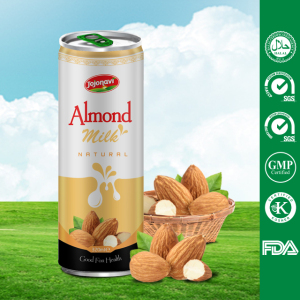 ALMOND MILK drinks in canned 320ml OEM milk series