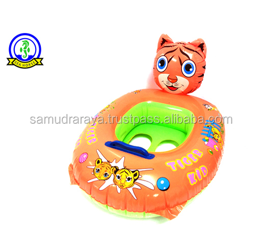 inflatable PVC animal tiger baby boat floats swim training