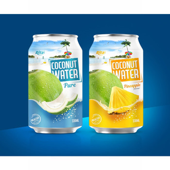 Viet Nam beverage 330ml Aluminum canned Pure coconut water