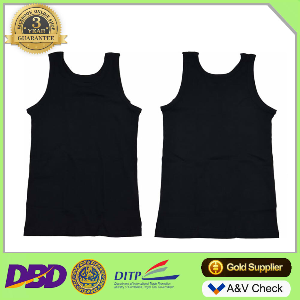 Thailand clothing manufacturers 100% cotton tank top men with private label Tank top custom