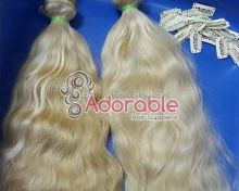 sew in human hair extensions blonde
