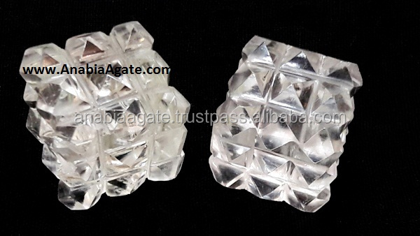 Crystal Quartz Shree Yantra : Wholesale Platonic Crystals