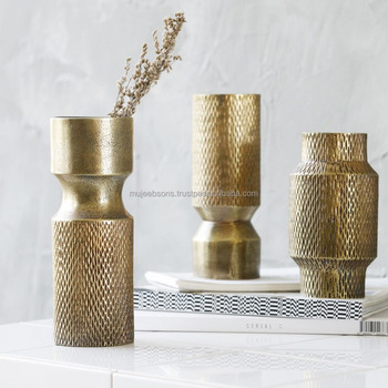 Modern Style Brass Antq. Vase For Your Daily Freshness- Flower Vase
