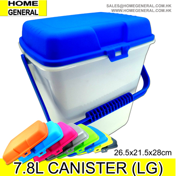 BUCKET GENERAL ALL PURPOSE PLASTIC BUCKET WITH LID AND HANDLE STORAGE CANISTER WITH HANDLE