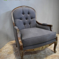 Antique Single Seater Wood Sofa Chairs