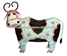 IRON PAINTED MONEY BANK COW BIG