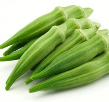 certificated fresh IQF frozen vegetables yellow okra