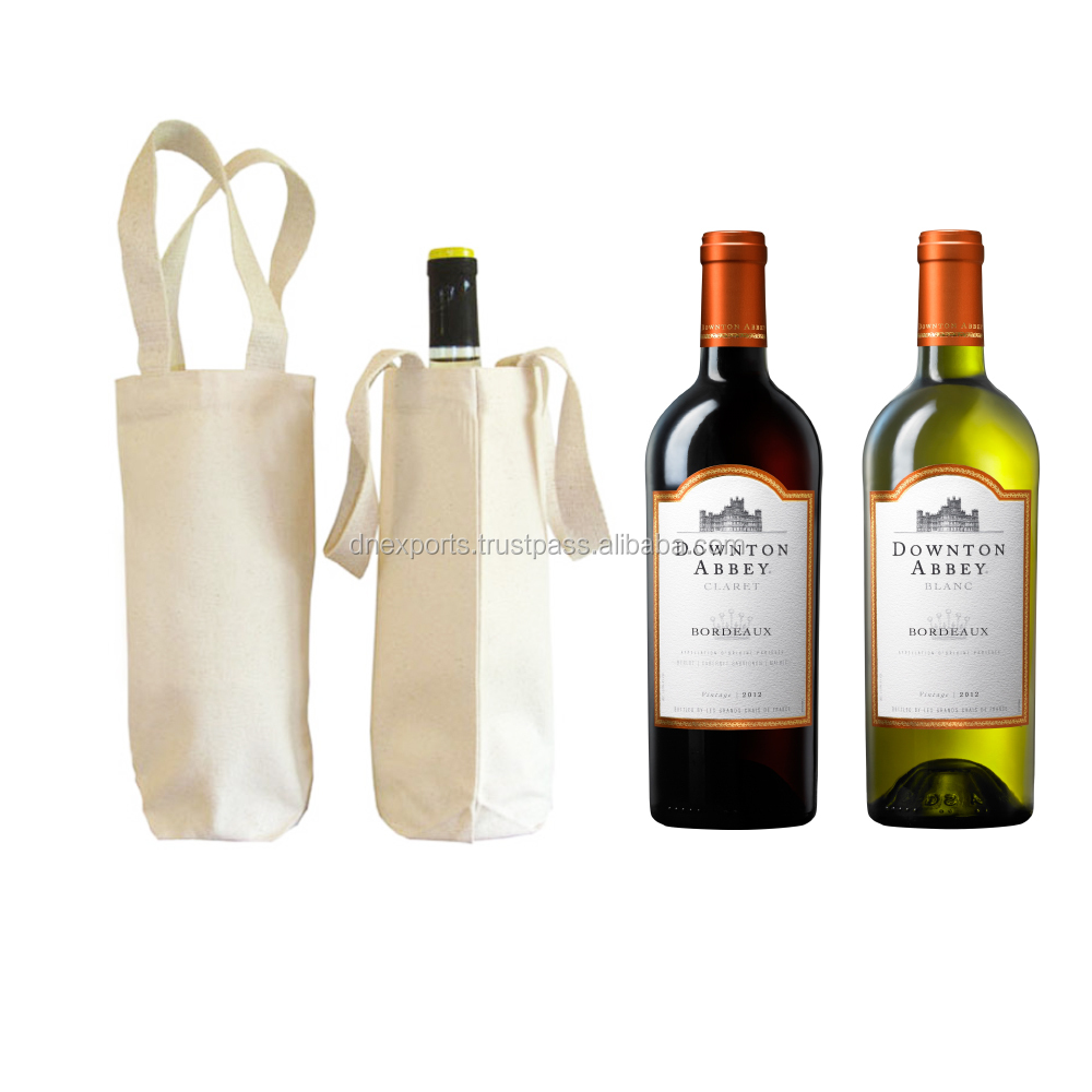 Custom Wine Gift Packing Cotton Bags