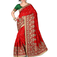 Groovy Red Color Fancy Saree.