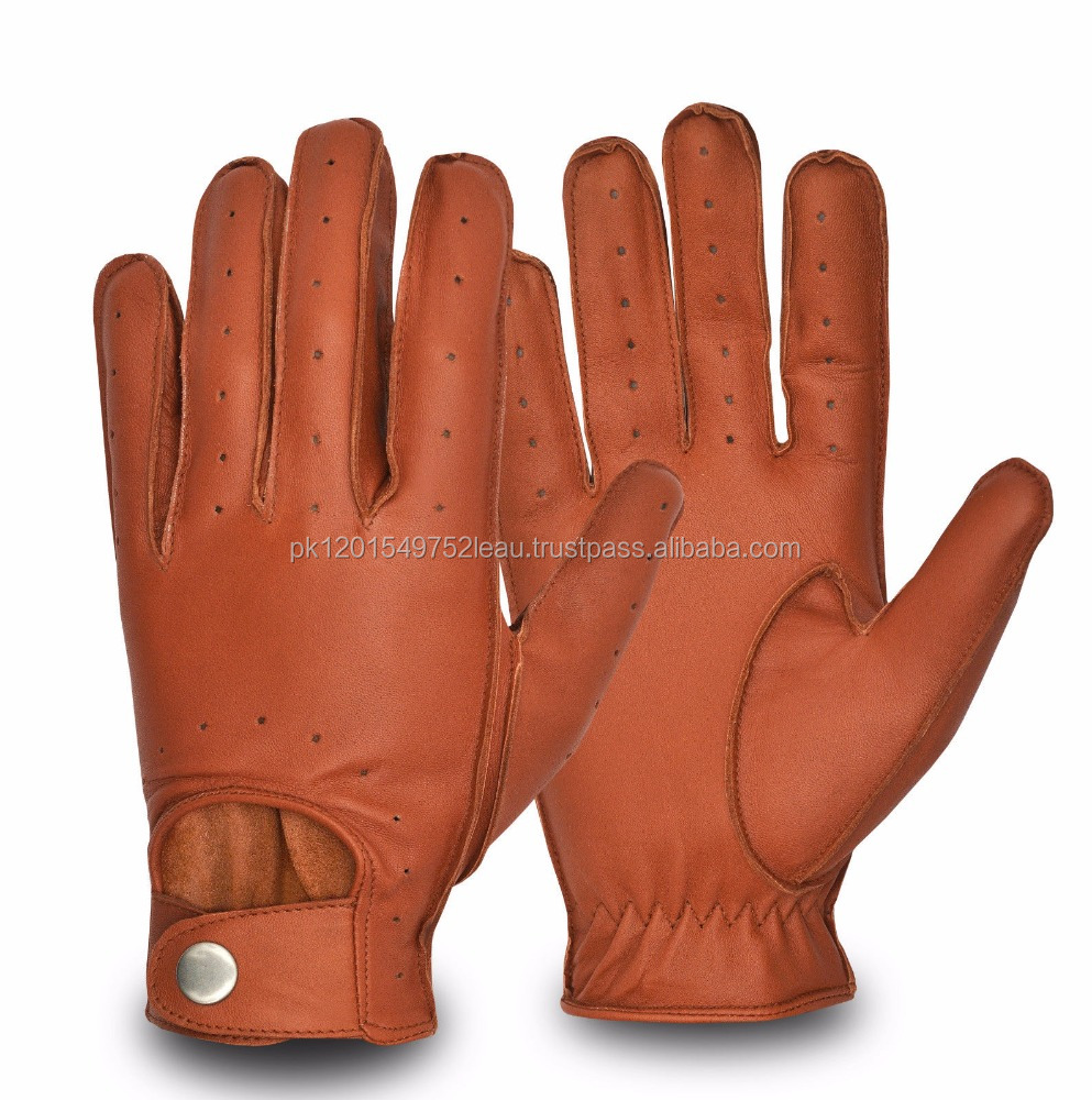 Men's Comfortable Genuine Leather Driving Gloves Touring Road Bike Motorbike