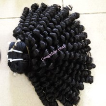 Wholesale cheap price steam curly hair human virgin hair machine weft hair 6 inch to 32 inch natural color
