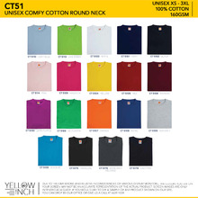 Unisex Comfy Cotton Round Neck (CT51)