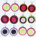 Round Drop Dangle Color Earrings Peruvian Jewelry Wholesale
