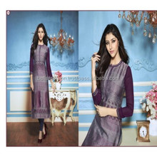 Latest Beautiful Western Formal Looking Function and Party Wear Fashion Designer Long Women Dress Kurtis