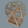 Wooden Plate Save For Food With Ferris Wheel and Natural Color Made In Indonesia Manufacture